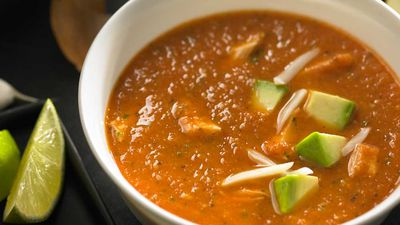 Chicken tortilla lime soup