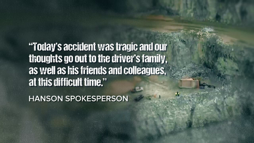 Hanson Construction released a statement regarding the tragedy.