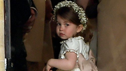 The two-year-old was a bridesmaid at Pippa Middleton's wedding. (AAP)