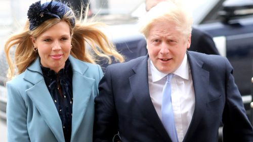 Prime Minister Boris Johnson MP and Carrie Symonds attend the Commonwealth Day Service 2020 at Westminster Abbey on March 09, 2020