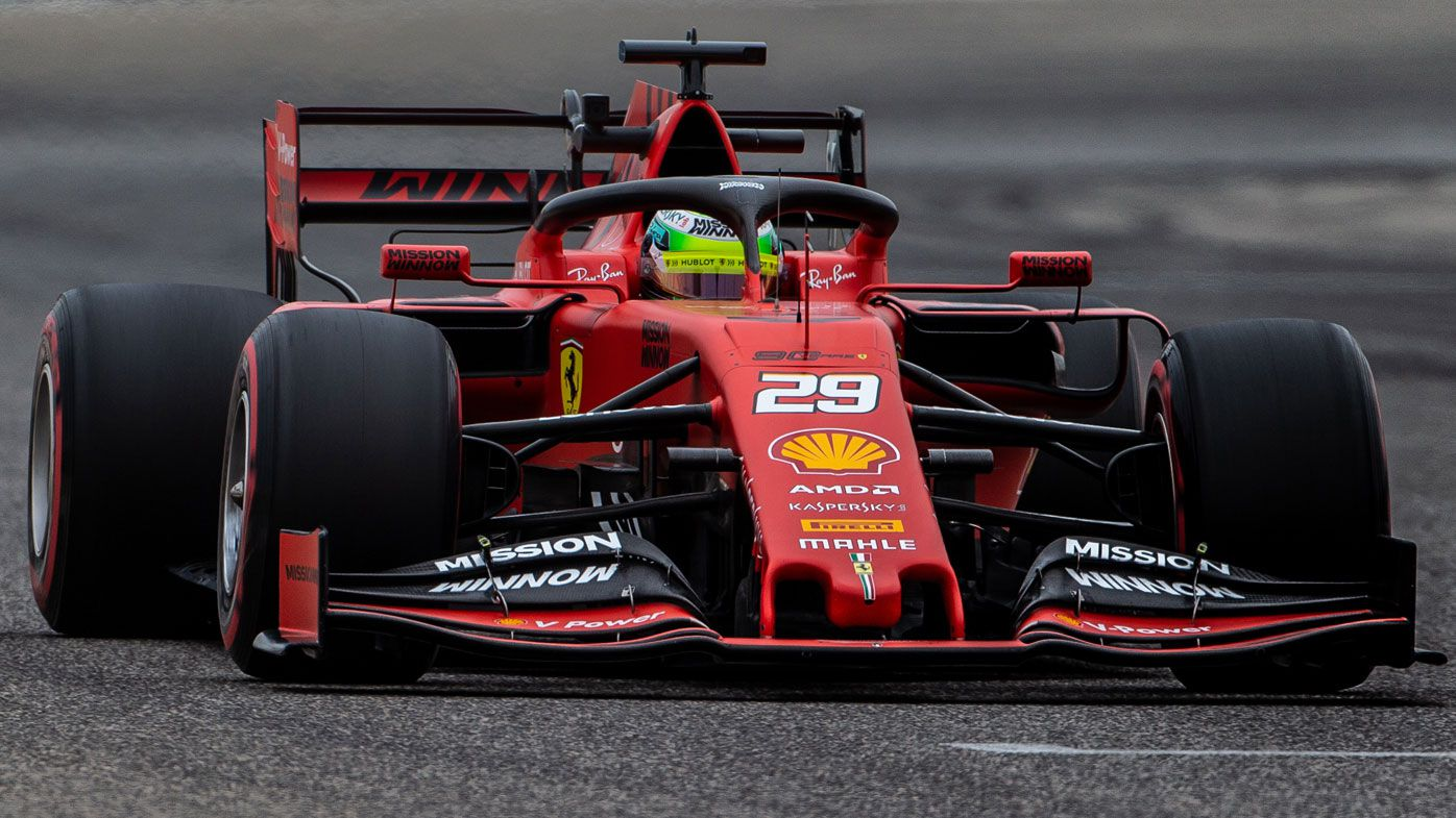 Mick Schumacher drives F1 car for first time, second-fastest in testing for Ferrari