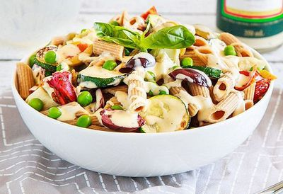 """<a href=""""http://kitchen.nine.com.au/2016/05/05/10/04/creamy-italian-pasta-salad"""" target=""""_top"""">Creamy Italian pasta salad<br /> </a>"""