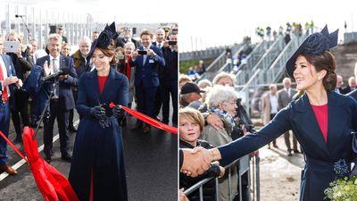 Princess Mary opens bridge named in her honour, September 2019