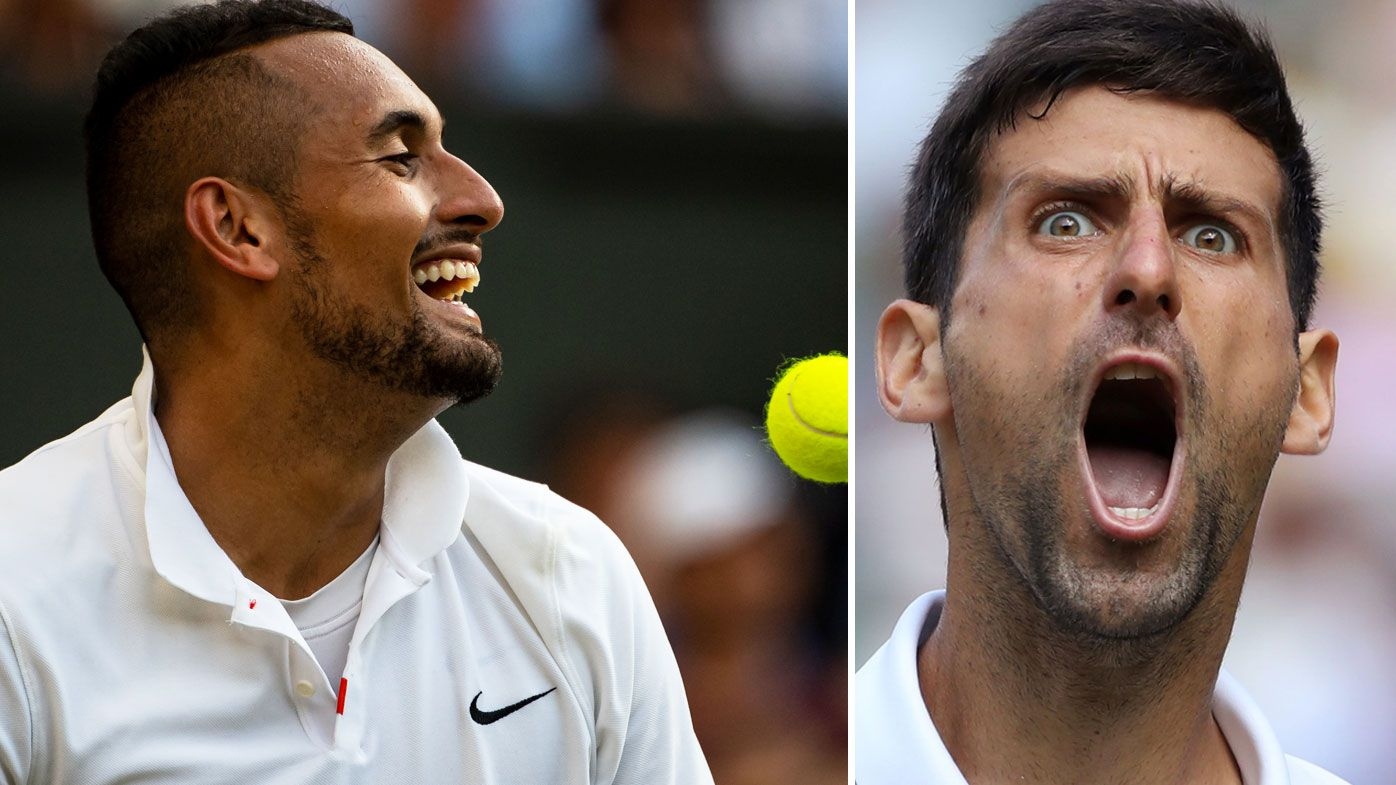 Nick Kyrgios' subtle dig at Novak Djokovic