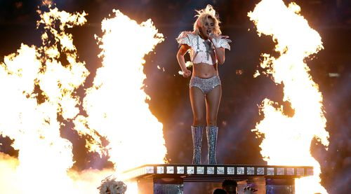Lady Gaga performed at the half-time show last year. (AAP)