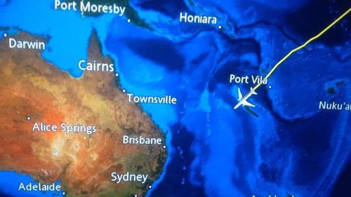Mr Newman also gave Australian officials plenty of warning of his arrival, posting an image of his flight path to Facebook. (Troy Newman)