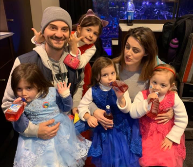 Steven and Kristy Lee Colakidis with their four daughters.