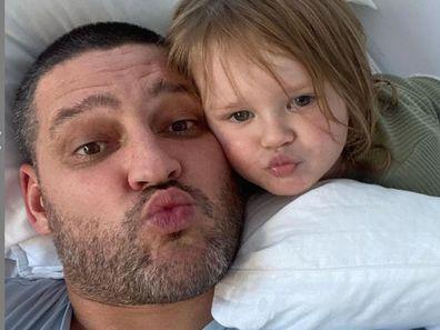 Brendan Fevola and youngest daughter Tobi.
