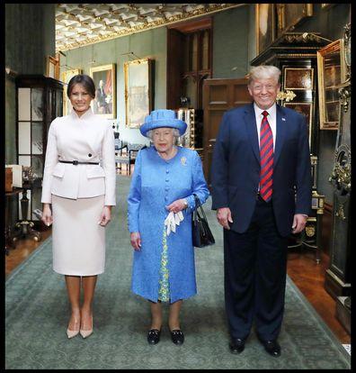 The Queen met Trump and Melania last year.