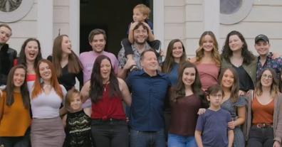 Mr Benjamin (top left) met dozens of his siblings and his father.