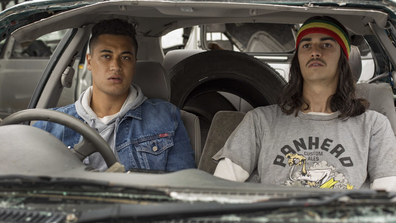 The film stars James Rolleston (left) and Samuel Austin (right).