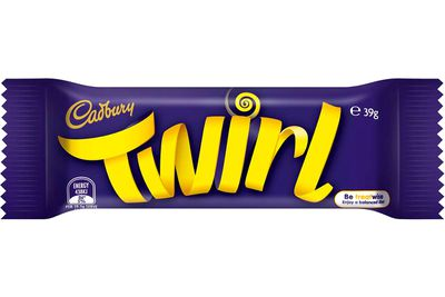 Twirl (39g bar): 209 calories/876kj