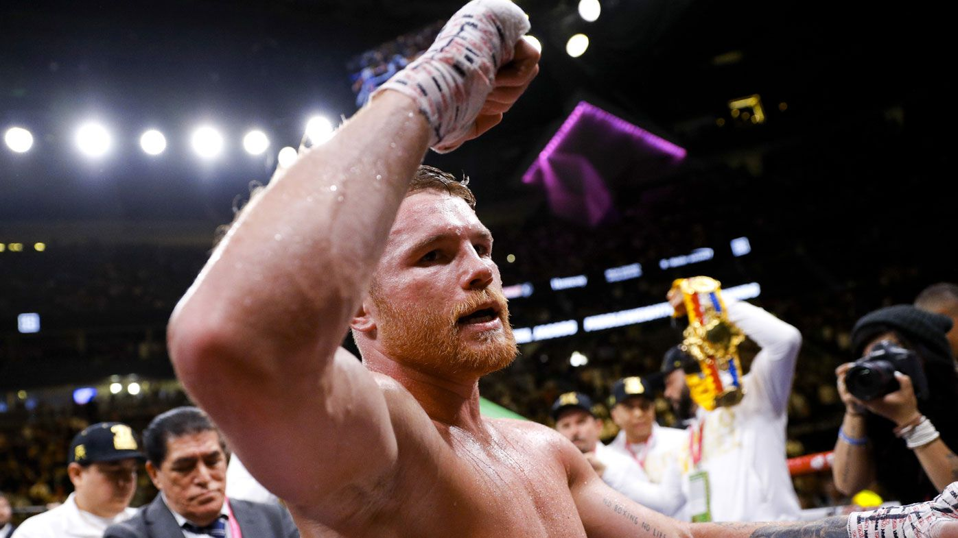 Canelo Alvarez unifies boxing middleweight titles in points win over Daniel Jacobs