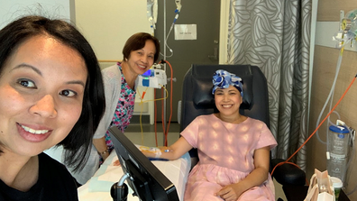 Ana's incredible attitude during treatment helped her cope.