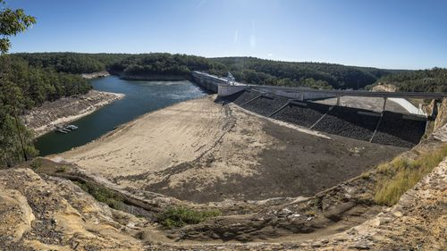 Warragamba Dam as it looked in May last year.