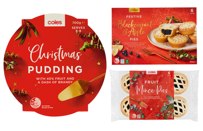 Coles Christmas range: pudding and mince pies