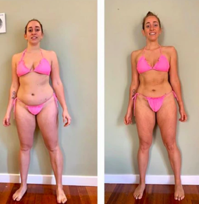Alex Merritt before and after Tammy Fit Weight Loss Challenge