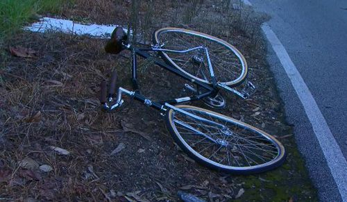 There are reports the cyclist was not wearing a helmet. (9 News)