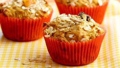 "Recipe: <a href=""http://kitchen.nine.com.au/2016/05/19/11/24/bircher-muesli-muffins"" target=""_top"">Bircher muesli muffins</a>"