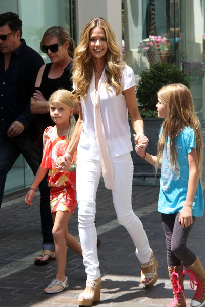 <p>Actress and former model, Denise Richards has two daughters with her ex-husband Charlie Sheen — Lola Rose, 11, and Sam, 13. At 40 years of age, Denise adopted a five-week-old baby, a daughter Eloise Joni, back in 2011.</p>