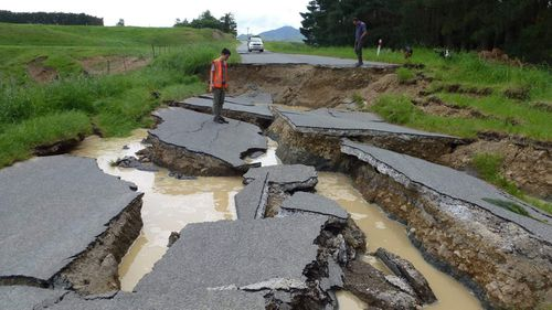 A fault rupture zone near Waiau, North Canterbury. (Photo: Tonkin and Taylor, Twitter)
