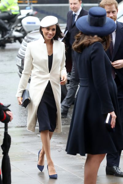 Princess-in-waiting, Meghan Markle, has already put her sartorial stamp on the royal wardrobe before she's even walked down the aisle.<br> <br> The former <em>Suits</em> star's penchant for a monochrome palette, tailored separates and tonal looks has seen her cultivate a sleeker, edgier aesthetic than her future sister-in-law. <br> <br> Point in case, for her first official public event with The Queen yesterday, the 36-year-old turned to a pristine winter white coat from Amanda Wakeley, a British designer favoured by the late Princess Diana. <br> <br> The clean lines of the jacket fitted her frame like a glove and proved that cooler weather doesn't always call for outerwear in dark hues.<br> <br> While the world waits to see which British designer the actress turns to for her May 19 wedding to Prince Harry, we're far more interested in taking notes from her winter style file.<br> <br> Even without a castle-sized budget and a prince to accessorise your autumn look, you can still emulate the future royal's impeccable style with our selection of ten princess-approved jackets.<br>