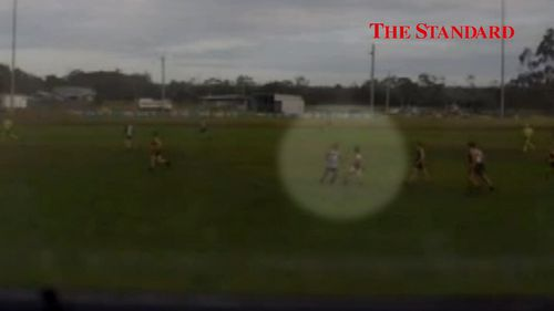 Video showed the on-field attack unfolding at the weekend. Picture: The Standard.