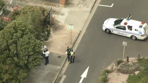 Police have established a crime scene.
