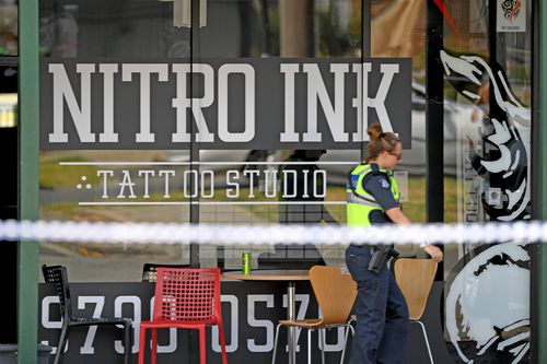 The victim was the target of a shooting at the Nitro Ink tattoo parlour in Melbourne in February. Ale is the former right-hand man of Comancheros national boss Mick Murray. (AAP)
