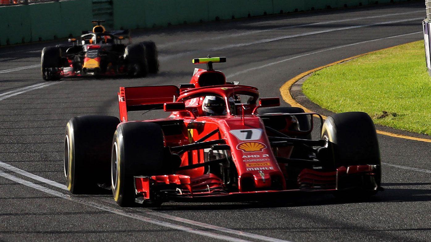 Ferrari driver Kimi Raikkonen during the Australian Formula One Grand Prix