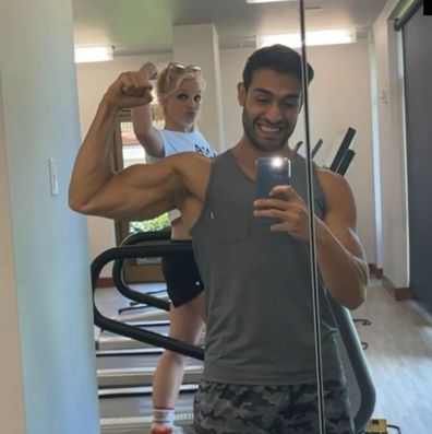 Britney Spears and Sam Asghari on vacation in Hawaii, June 2021