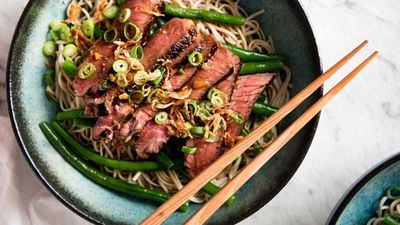 "<a href=""http://kitchen.nine.com.au/2017/06/05/15/52/beef-soba-noodle-bowl-with-green-beans"" target=""_top"">RecipeTin Eats beef soba noodle bowl with green beans</a><br /> <br /> <a href=""http://kitchen.nine.com.au/2016/11/29/11/52/15-minute-meals-for-speedy-weekday-dinners"" target=""_top"">More 15 minute meals</a>"