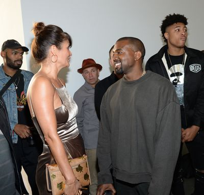 Helena Christensen and Kanye West.