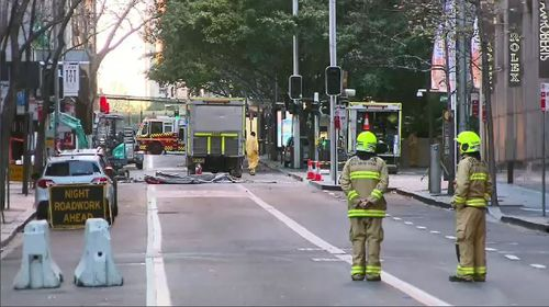 Some residents were locked out of their homes which were inside the exclusion zone. Picture: 9NEWS