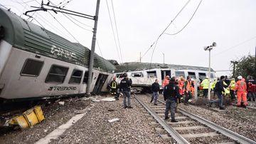 Milan train derailment kills at least three, injures 13