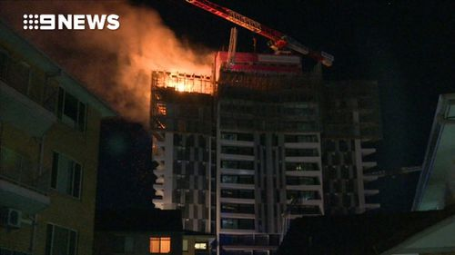 No one was in the building at the time. (9NEWS)