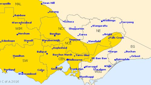 Severe weather warning issued for heavy rain and strong winds in Victoria