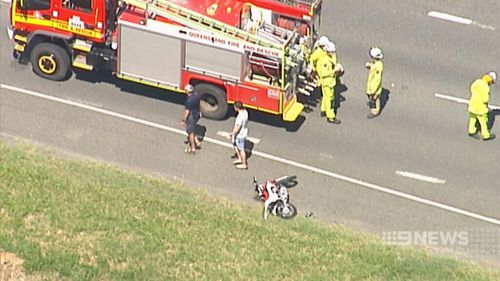 The boy is recovering from head injuries after hitting the car's windscreen. (9NEWS)