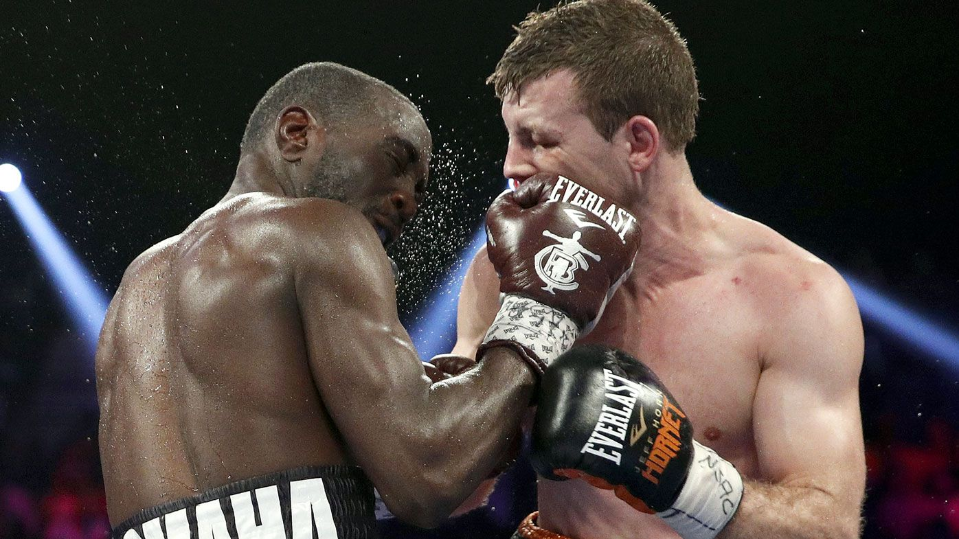 Jeff Horn's trainer claims referee stopped title fight against Terence Crawford too soon