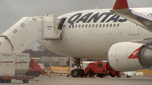 The plane landed safely in Melbourne. (9NEWS)