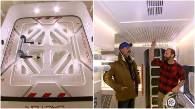 Spaceship tucked away inside Aussie garage