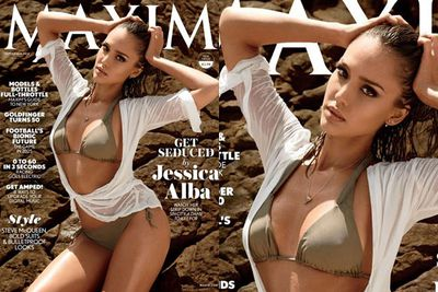 <br/><br/><br/>Jessica Alba has graced the September cover of US <i>Maxim</i> magazine in a super-sexy olive green bikini. And boy does she look fierce!<br/><br/>Keep scrolling through to check out the full spread…<br/><br/>Images: Cliff Watts / <i>Maxim</i> magazine<br/>(<i>Written by Yasmin Vought. Approved by Amy Nelmes</i>)