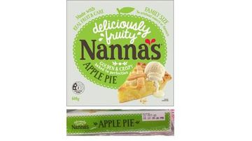 National recall for Nanna's Family Apple Pie amid glass risk