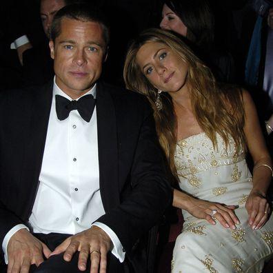 Jennifer Aniston & Brad Pitt arriving for the Golden Globe Awards