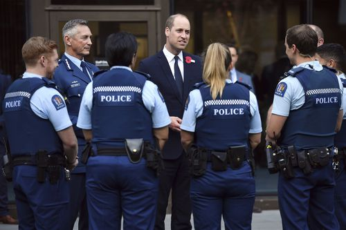 Prince William is on a two-day visit to New Zealand to take part in ANZAC ceremonies and visit the two mosques where a gunman killed 50 people on March 15.