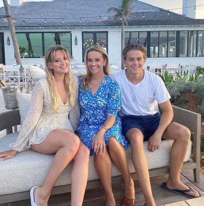 Reese Witherspoon and Ava and Deacon