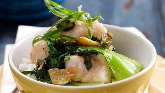 Ginger fish stir-fry for $8.95