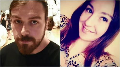 Shea Dylan Sturt (L) is accused of killing Caitlin O'Brien (R) during an alleged domestic violence incident.