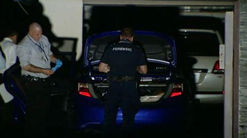 Police at the scene in Gaven. (9NEWS)