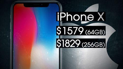 The iPhone X price range.
